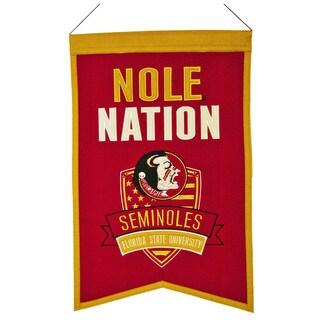 NCAA Florida State Seminoles Wool Nations Banner