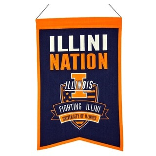 NCAA Illinois Fighting Illini Wool Nations Banner