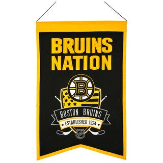 NHL Boston Bruins Wool Nations Banner