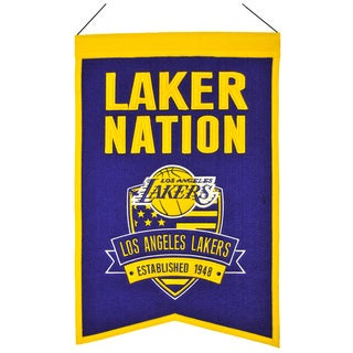 NBA Los Angeles Lakers Wool Nations Banner