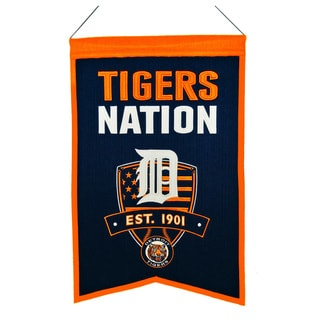 MLB Detroit Tigers Wool Nations Banner