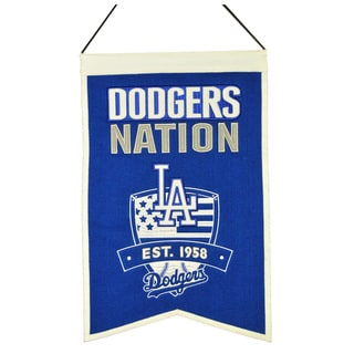 MLB Los Angeles Dodgers Wool Nations Banner