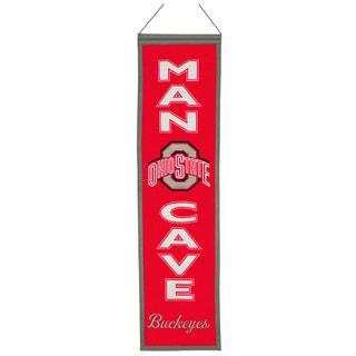 NCAA Ohio State Buckeyes Wool Man Cave Banner
