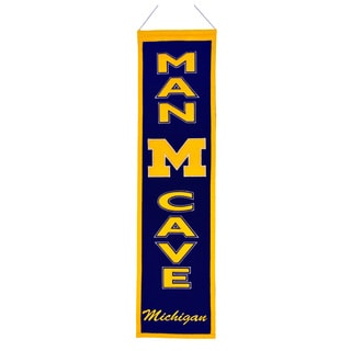 NCAA Michigan Wolverines Man Cave Embroidered Banner