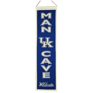NCAA Kentucky Wildcats Wool Man Cave Embroidered Banner