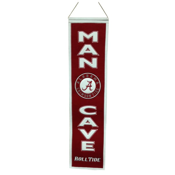 NCAA Alabama Crimson Tide Man Cave Embroidered Banner 12056202