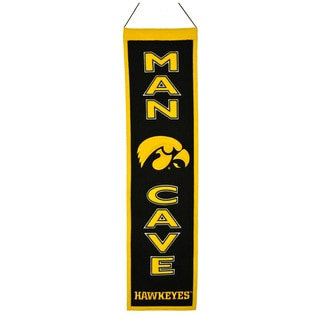 NCAA Iowa Hawkeyes Wool Man Cave Embroidered Banner