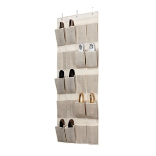 Kennedy Home Collection Beige 20-pocket OTD Shoe Organizer