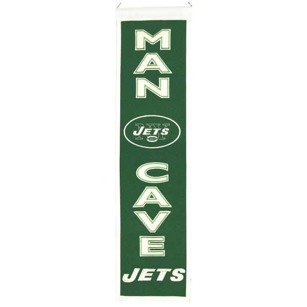 NFL New York Jets Wool Man Cave Embroidered Banner 12056310