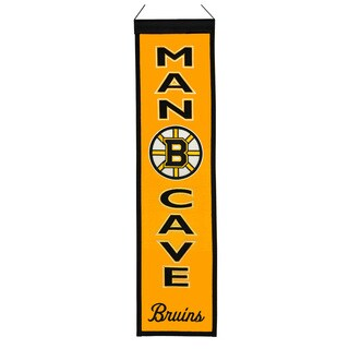 NHL Boston Bruins Wool Man Cave Embroidered Banner