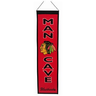 NHL Chicago Blackhawks Wool Man Cave Embroidered Banner