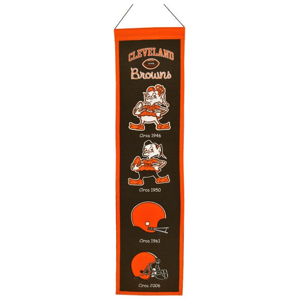 NFL Cleveland Browns Wool Heritage Banner 12056331