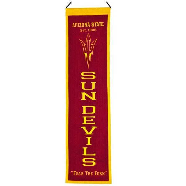 NCAA Arizona State Sun Devils Wool Heritage Banner 12056341