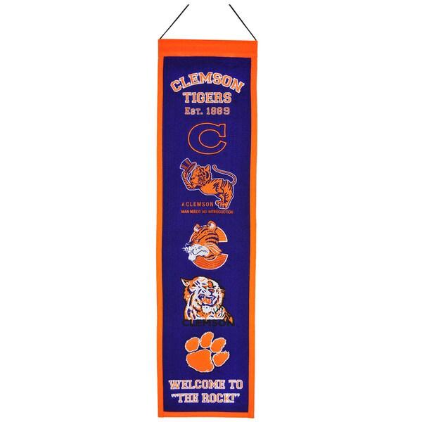 NCAA Clemson Tigers Wool Heritage Banner 12056344