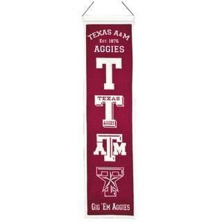 NCAA Texas AM University Aggies Wool Heritage Banner