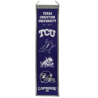 NCAA TCU Horned Frogs Wool Heritage Banner