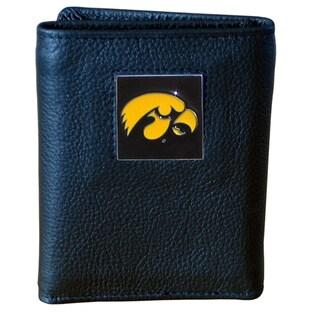 NCAA Iowa Hawkeyes Executive Leather Tri-fold Wallet