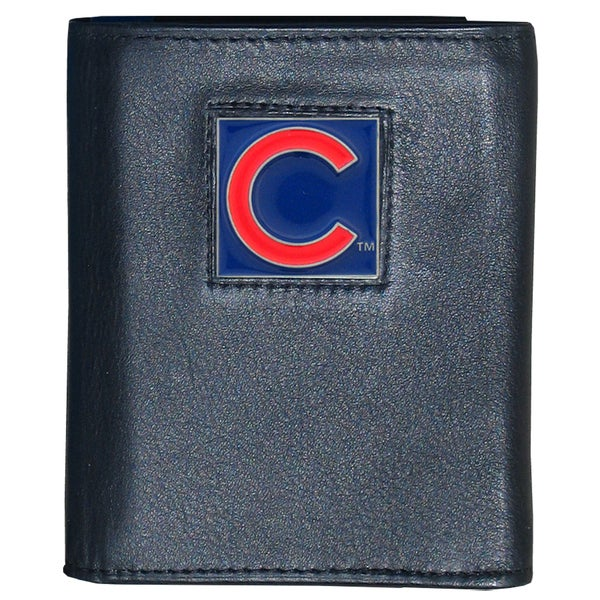 MLB Chicago Cubs Executive Leather Tri-fold Wallet