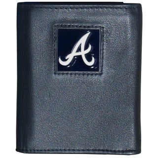 MLB Atlanta Braves Executive Leather Tri-fold Wallet