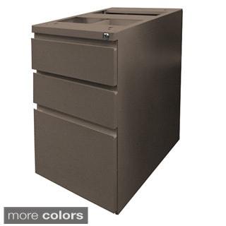 Mayline Steel Lidless 3-drawer File Pedestal