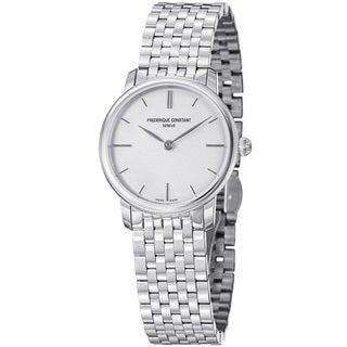 Frederique Constant Women's FC-200S1S36B 'Slim Line' Stainless Steel Quartz Watch