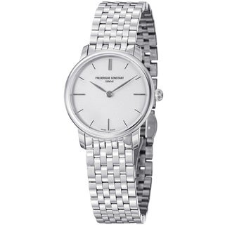 Frederique Constant Women's 'Slim Line' Stainless Steel Quartz Watch