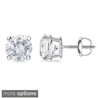 Auriya Platinum 1 to 2ct TDW GIA Certified Diamond Stud Earrings (F-G, VS1-VS2)