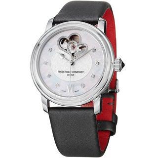 Frederique Constant Women's FC-310WHF2P6 Automatic Black Satin Strap Watch