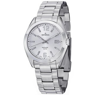 Grovana Men's 1554.1132 Silver Dial Stainless Steel Bracelet Quartz Watch