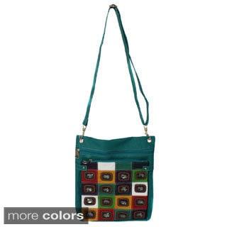 Jewel Checkered Crossbody Bag