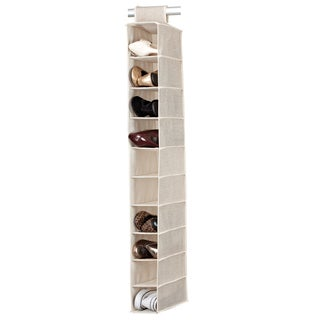 Kennedy Home Collection Beige 10-shelf Shoe Organizer