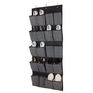 Kennedy Home Collection Grey 20-pocket OTD Shoe Organizer