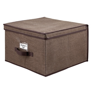 Kennedy Home Collection Espresso 16-inch Jumbo Storage Box