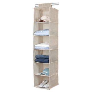 Kennedy Home Collection Beige 6-shelf Sweater Organizer