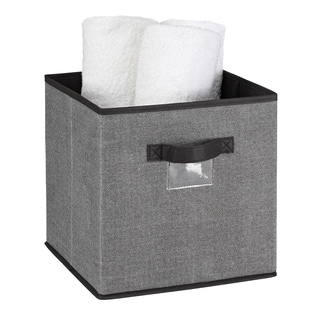 Kennedy Home Collection Grey Storage Cube