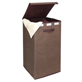 Kennedy Home Collection Espresso Collapsible Laundry Hamper