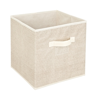 Kennedy Home Collection Beige Storage Cube