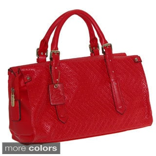 Buxton 'Gianna' Geometric Embosed Satchel