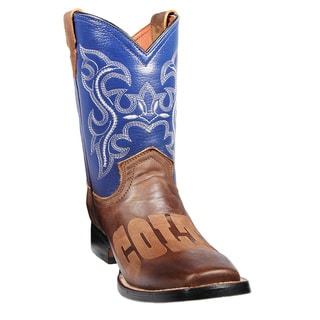 Kids Indianapolis Colts Leather Western Boots