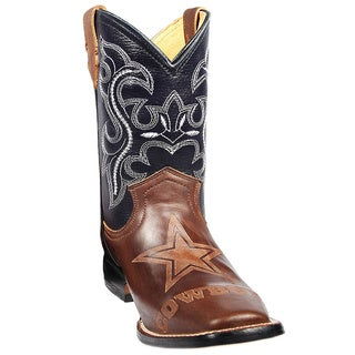 Kids Dallas Cowboys Leather Western Boots