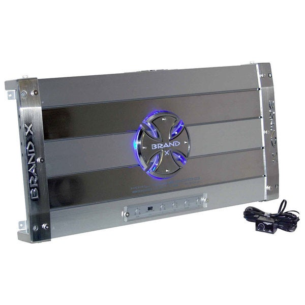 BrandX XXLDB8000D 8020 Watt Mono Block Digital Class D Amplifier with Wired Bass Remote Control (Refurbished)