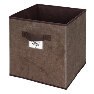 Kennedy Home Collection Espresso Storage Cube