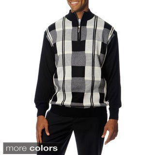 Steve Harvey Men's Long Sleeve Quarter Zipper Knit Sweater