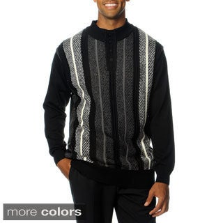 Steve Harvey Men's Long Sleeve 4 Button Knit Sweater