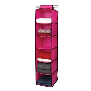 6-shelf Pink/ Black Sweater Organizer