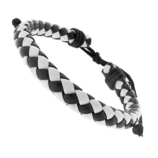 Leather Checker Bracelet