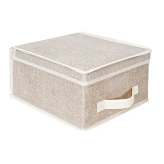 Kennedy Home Collection Beige Medium Storage Box