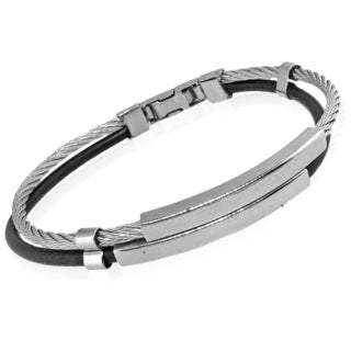 Men's Stainless Steel Double Strand Bracelet