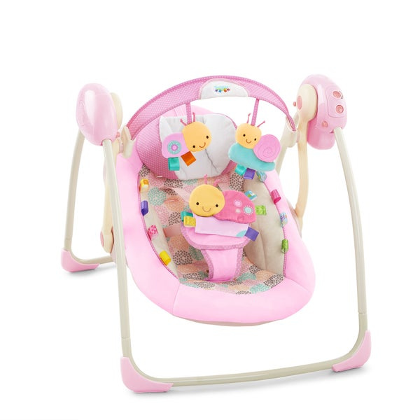 Taggies Portable Swing in Cozy Posies