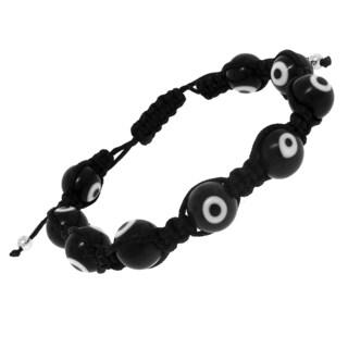 Macrame Black Evil Eye Bracelet